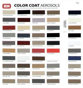 - Sem Colorcoat Color Chart