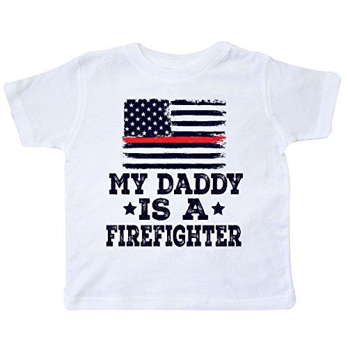 (inktastic - Fireman Daddy is A Firefighter Toddler T-Shirt 2T White 2ec6d)