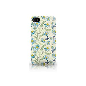 Snekz - Carcasa rígida y brillante para iPhone 4 o iPhone 4S, diseño de margaritas