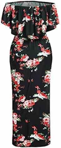 30a4049632892 EDTO Pregnancy Off Shoulder Dress, Floral Dress Maternity Sundress Clothes