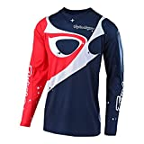 Troy Lee Designs Men's Off-Road Motocross Motorcycle SE Pro Neptune Jersey (Navy/Red, X-Large)