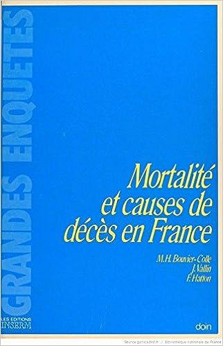 Mortalité causes décès