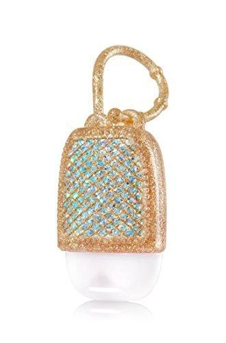 Bath & Body Works PocketBac Hand Gel Holder Gold Sparkle by Bath & Body Works