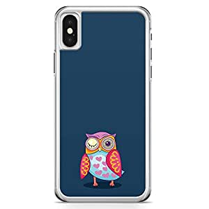 iPhone X Transparent Edge Phone Case Owl Phone Case Colorful Phone Case Eye