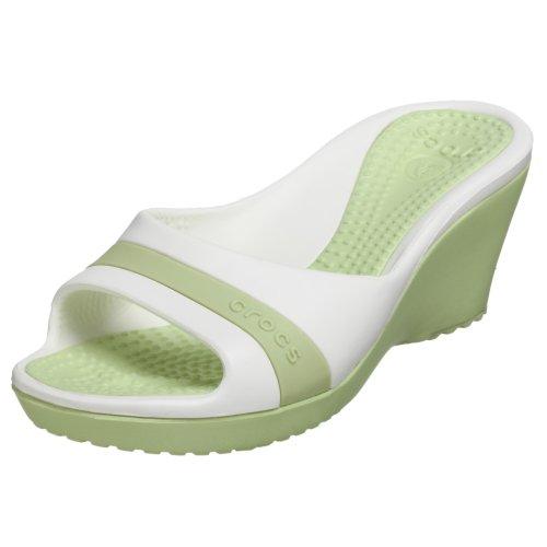 Crocs–Sabots pour femme Celery/White
