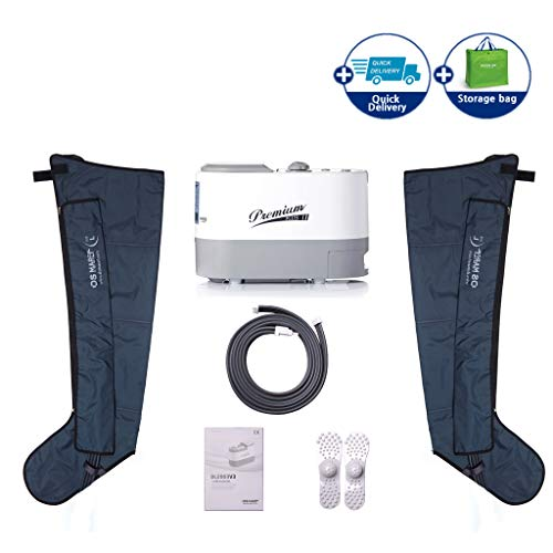 (Air Compression System by DSMAREF : Sequential Compression Device, Compression Pump, Recovery Boots, Blood Circulation Machine for Legs, Leg Massager. (Size : L))
