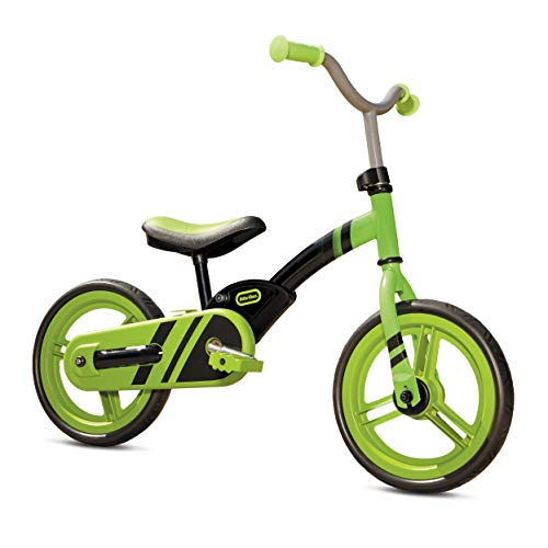 Little Tikes My First Balance-to-Pedal Training Bike for Kids in Green, Ages 2-5 Years, 12-Inch