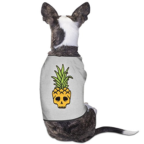 Pineapple Skull Embroider Art New York Dog Clothes Dog Sweaters Dog Coats