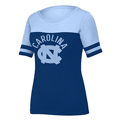 J America NCAA North Carolina Tar Heels Female Stadium Tee, Navy/NC Blue, XX-Large - Navy Blue Stadium T-shirt
