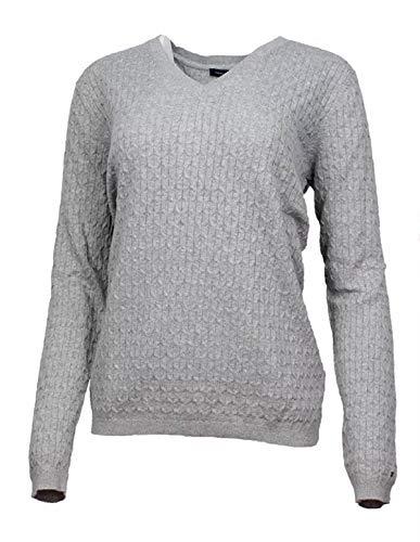 Tommy Hilfiger Women's V-Neck Knit Sweater (Heather