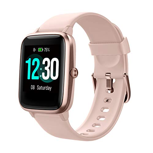 Fitpolo Fitness Tracker with Heart Rate Monitor Smart Watch 13 inches Color Touch Screen IP68 Waterproof Step Calorie Counter Sleep Monitoring Pedometer Watches Activity Trackers Pink