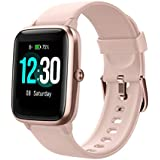 Fitness Tracker with Heart Rate Monitor, Fitpolo Smart Watch 1.3 inches Color Touch Screen IP68 Waterproof Step Calorie Counter Sleep Monitoring Pedometer Watches Activity Trackers (Pink)