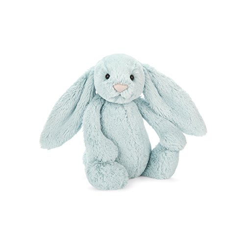 Jellycat Bashful Beau Bunny Stuffed Animal, Small, 7 inches (Blue Bunny Plush Rabbit)