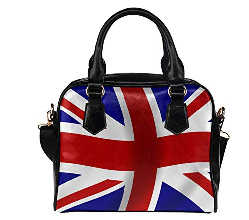 (Union Jack Flag UK British Flag Print Womens Leather Handbags Totes Top Handle Shoulder Crossbody Bag Satchel Ladies Purses (1) )
