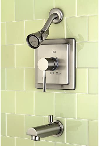 Kingston Brass KB8658DL Concord Tub and Shower Faucet, Satin Nickel