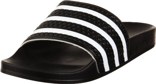 60b8b362a1765 Galleon - Adidas Originals Adilette Slide - Black White Black (Mens) - 12