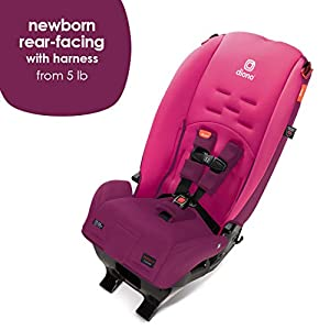 Diono 2020 Radian 3R, 3-in-1 Convertible, 10 Years 1 Car Seat, Slim Fit Design, Fits 3 Across, Pink Blossom