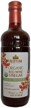 Acetum Organic Red Wine Vinegar with the 'Mother' - 16.9 oz
