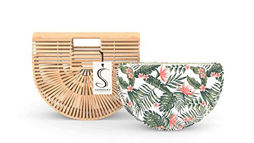 Bamboo Handbag - Womens Basket Bag with Purse Insert - Handmade Summer Tote by Somersby Beauty (Image #4)
