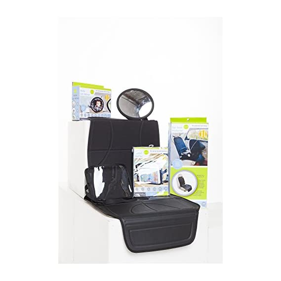 Playette Car Seat Mat and Protector (Black)
