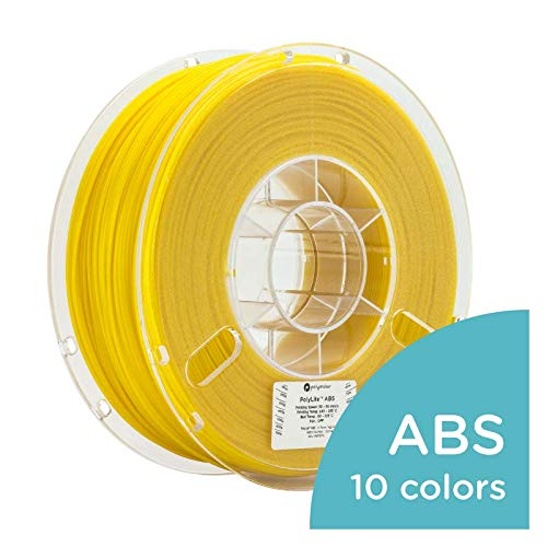 Polymaker PolyLite 3D Printer Filament, ABS Filament, 2.85mm Filament, 2.2lb(1Kg) Black Filament [Random Outer Packaging]