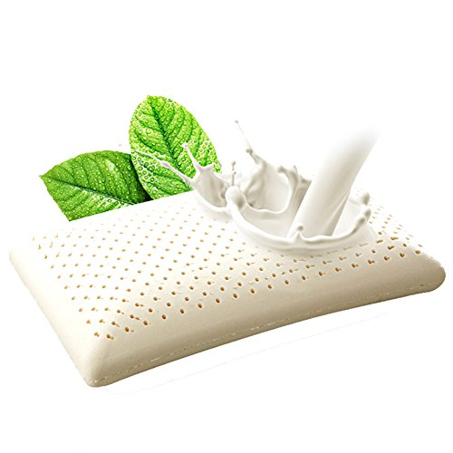 Thai Latex Foam Pillow Cervical Orthopedic 100% Natural Ventilated Pressure Release Cosmetic Thailand Latex Pillows by NATLIVING