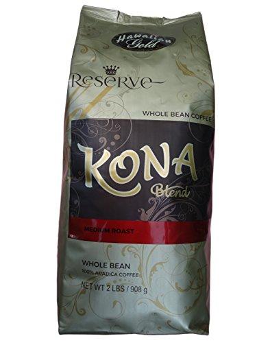 Hawaiian Gold Kona Blend Whole Bean Coffee 2 Lb
