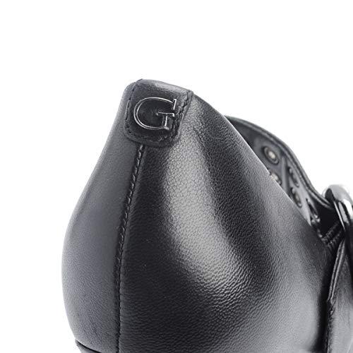 Cuero Woman 07 3 Flhls Lea Black Cintura Negro Guess De Rock CXqXw5