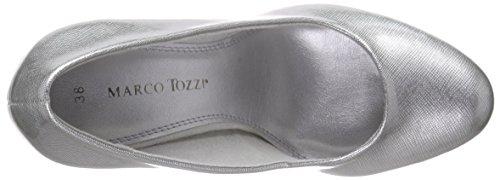 Marco Tozzi 22401 - Zapatos de vestir de material sintético para mujer Gris - Grau (QUARTZ 201)