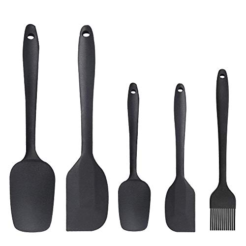 - Silicone Spatula Set 5 Piece Seamless Rubber Spatulas 600ºF High Heat-Resistant Non-stick with Stainless Steel Core Kitchen Utensils Good Grips Spatulas for Cooking & Baking