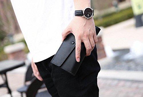 De Negro Casuales Y Para Moda Bolsas De Embrague Hombres Europea Carteras Bolsos Sobres Cuero Bolsos Largas De Para Negocios Americana Bolsos Para Bolsos Bx8pqUqta