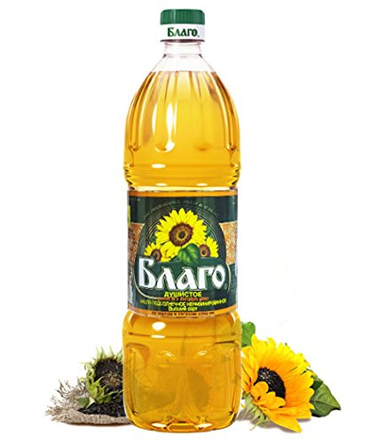 Blago Sunflower Oil Unrefined (33.8 Fl Oz / 1 Litre) Imported from Russia