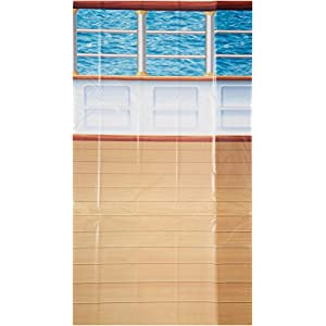 Beistle 52028 1-Pack Cruise Ship Deck Backdrop, 4-Feet by 30-Feet