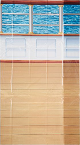 Beistle 52028 1-Pack Cruise Ship Deck Backdrop, 4-Feet by ()