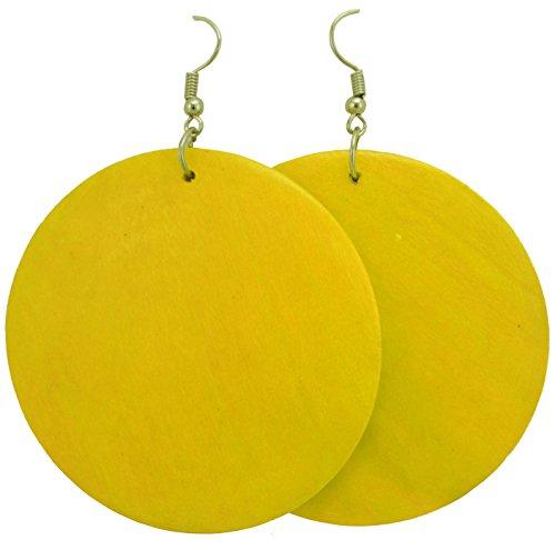 Wooden Earrings - Wood Earrings - Ethnic Earrings - Circle Earrings - Geometric Earrings ()