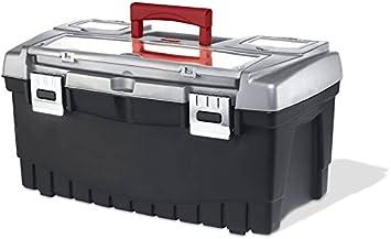 Keter caja de herramientas organizador color plateado-negro 22