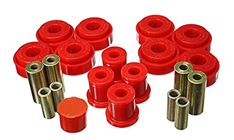 Energy Suspension 5.3140G Control Arm Bushing Set Black Front Must Reuse Existing Outer Metal Shells Performance Polyurethane Incl. Compression And Strut Rod Bushings Control Arm Bushing Set