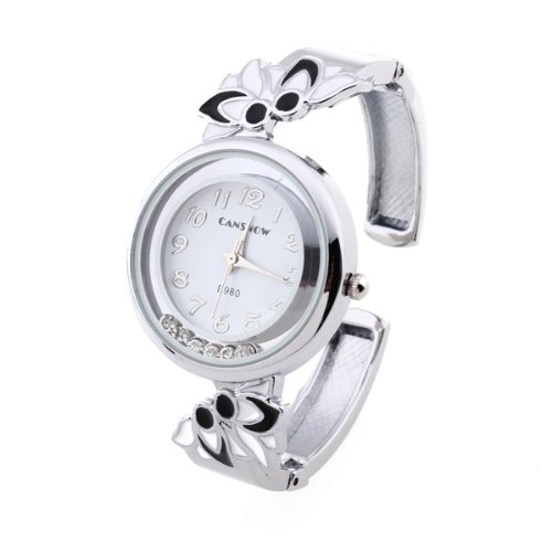 fitTek® Damen Armbanduhren Quarzuhren Uhren Watch Armkette mit Strass Wei? Modisch [Uhr]