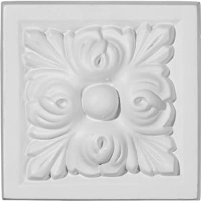 Ekena Millwork PB03X03BE 3 7/8-Inch W x 3 7/8-Inch H x 1 1/2-Inch P Benson Plinth Block