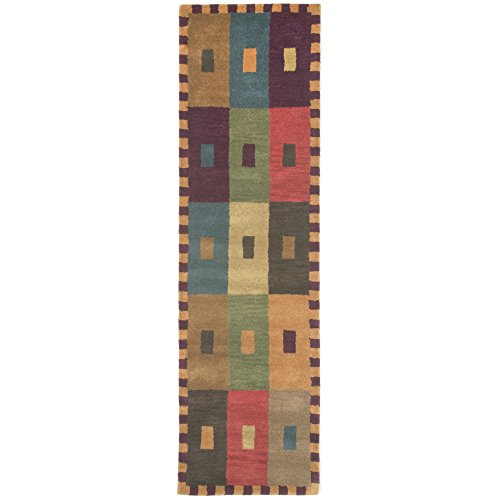 Liora Manne Inca Square Rug, 27-Inch by 8-Feet, Multi