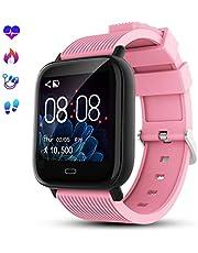 GOKOO Smartwatch Fitness Tracker Sportuhr für Damen Herren Armband Uhr Voller Touch Screen Uhr IP68 Wasserdicht mit Schrittzähler Pulsuhren Stoppuhr für iOS Android Handy