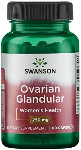 Swanson Ovarian Glandular Women s Hormone Ovarian Health Hormonal Balance Support Supplement 250 mg 60 Capsules 3 Pack