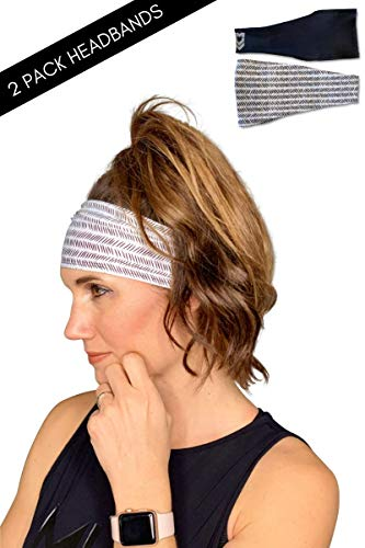 MUV365 Headbands for Women | Workout, Running, Yoga, Wide Sports Head Bands | Headband Protects with SPF 50+, Keeps Sweat from Dripping in Eyes & is Non-Slip
