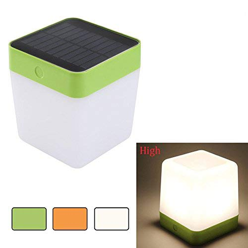 LUTEC Solar Rechargeable LED Light Outdoor/Indoor Emergency Lighting Waterproof Lamp Touch Sensitive Control Garden Bedroom Lamp Camping Outage Led Table Cube Night Light Home Decorative LED Light by LUTEC