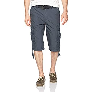 Unionbay Men's Cordova Belted Messenger Cargo Short - Reg and Big and Tall Sizes, grenade, 42