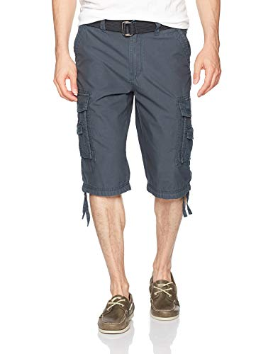 Unionbay Men's Cordova Belted Messenger Cargo Short - Reg and Big and Tall Sizes, grenade, 34