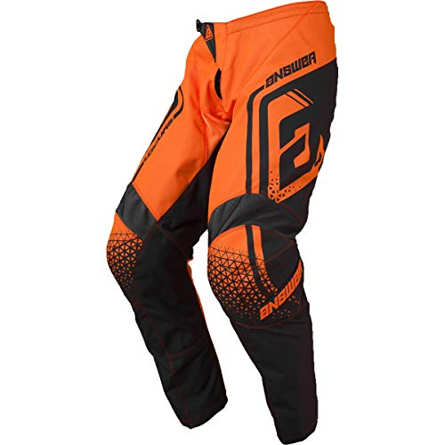 (Answer Racing A19 Syncron Drift Youth Boys Off-Road Motorcycle Pants - Flo Orange/Charcoal / 24)
