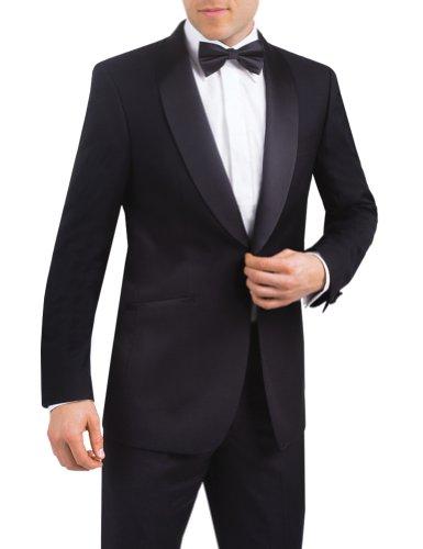 Alexander Dobell Men's Shawl Lapel 1 Button Tuxedo Jacket