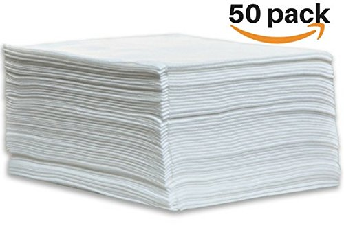"DAVELEN Disposable Large Luxury Towels (50-Count) Spa and Salon Quality Softness for Guests, Clients | Hair, Face, Body Use | Luxurious Comfort, Hygienic, Ecofriendly | Towels Size: 31.5"" x 15 (white) by DAVELEN"