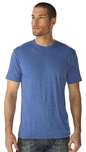 Next Level Men's TriBlend Crewneck T-Shirt, Vintage Royal, XX-Large (Pack of 3)